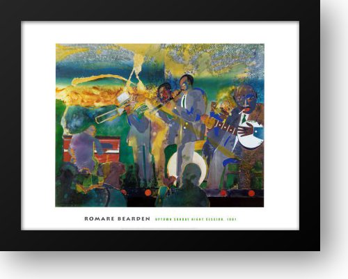 Uptown Sunday Night Session 36x28 Framed Art Print by Bearden, Romare
