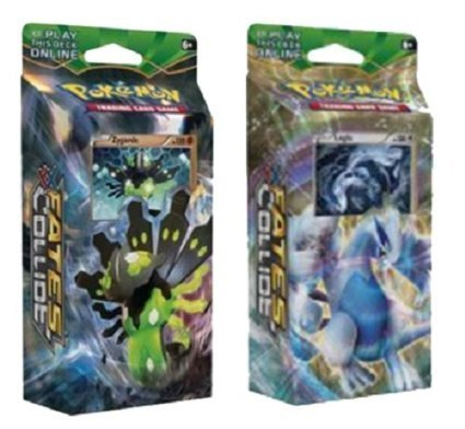 Pokemon XY Fates Collide - BOTH Theme Decks Zygarde & Lugia ...