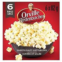 Orville Redenbachers Sweet & Salty Kettlecorn Microwave Popcorn, 6 Count, 492g