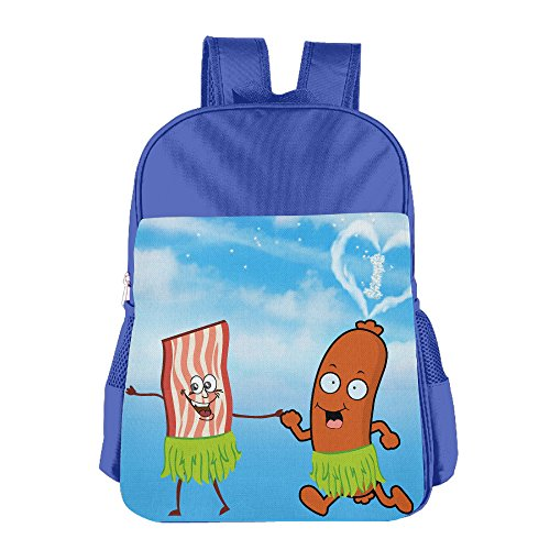 Bacon And Hot Dog Are Dancing With Hula Kids Backpack Schoolbag Book Bags For Child