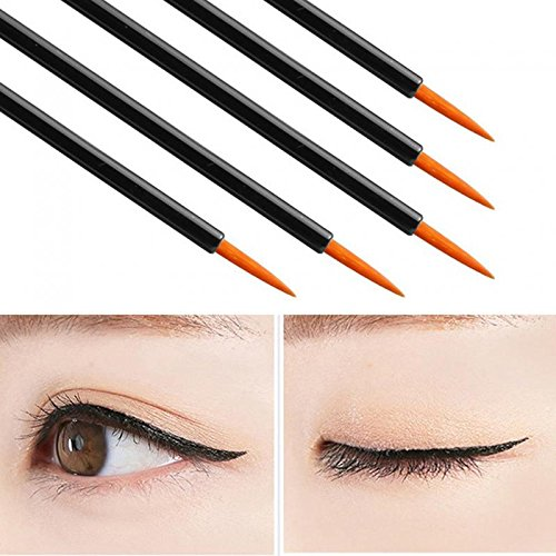 50 Pcs Disposable Eyeliner Brush Eye shadow Applicator Fine Point Eye Liner Pens Lip Liner brushs Cosmetic Wands Makeup Tool set by PIAOPIAONIU