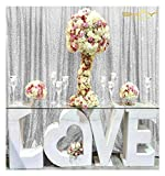 8FTX8FT Silver Sequin Backdrops, Silver Sequin Fabric, Wedding Backdrops, Christmas Decoration, Sequin Curtains, Drape, Sequin Panels, Blush Home Decor