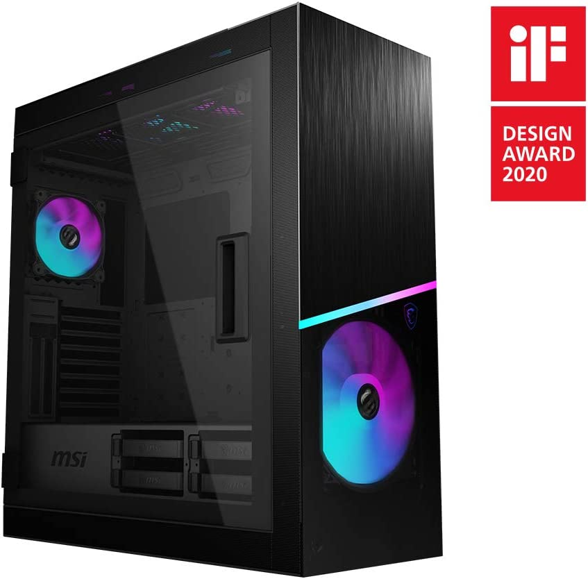 MSI MPG SEKIRA 500X Full Tower Gaming Computer Case 'Black, 3x200mm ARGB + 1x200mm + 1x120mm ARGB Fans, Mystic Light ARGB Hub, USB Type-C, Tempered Glass, E-ATX, ATX, mATX, Mini-ITX' 306-7G05X11-W57