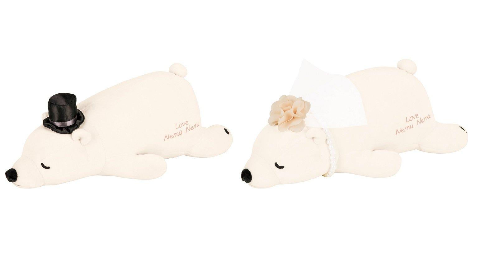 LivHeart Cushion Body Pillow Hug Pillow Wedding Nemu Nemu 2 Polar Bears set 48952-11