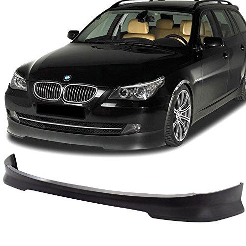 Front Bumper Lip Spoiler Fits 2008-2010 BMW E60 5 Series| C Style Matte Black PU Air Dam Chin Diffuser Front Bumper Splitter by IKON MOTORSPORTS | 2009