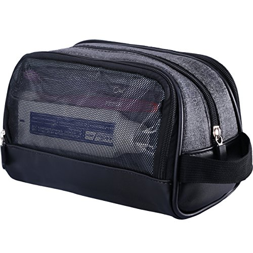 WOWBOX Travel Kit Toiletry Bag for Men Waterproof Cosmetic Makeup Shower Bag Shaving Dopp Kit Case Accessories Organizer with Side Hand Strap ()