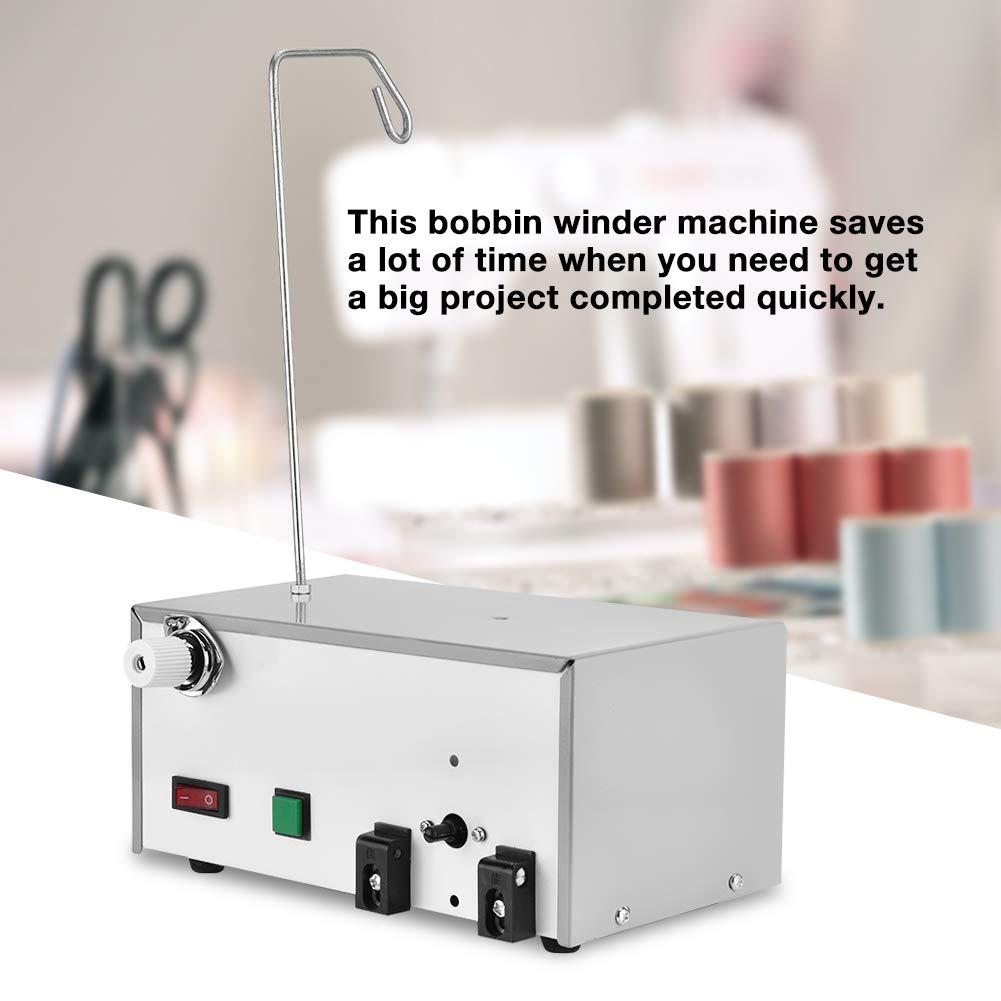 Cn-Stecker 220v 50w Elektrischer automatischer Hochspuler f/ür das Sticken Automatischer Spuler das inl/ändische und industrielle N/ähmaschinenspule n/äht