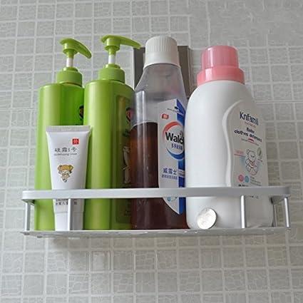 Acero inoxidable de succión fuerte ducha de almacenamiento de rack toalla de lavado ducha champú cesta