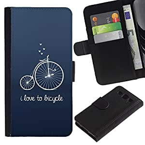 WINCASE (No Para S3 Mini) Cuadro Funda Voltear Cuero Ranura Tarjetas TPU Carcasas Protectora Cover Case Para Samsung Galaxy S3 III I9300 - edad unic azul inconformista texto