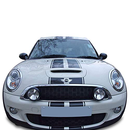 John Cooper New Works Mini (Bubbles Designs Decal Sticker Graphic Front to Back Stripe Kit Compatible with Mini Cooper S John Cooper Works)