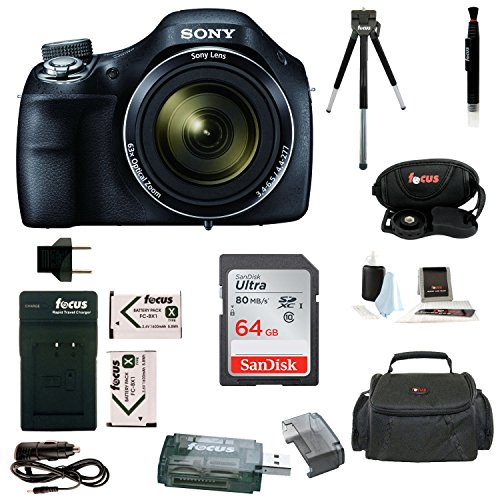 Sony Ccd Series (Sony Cyber-shot DSC-H400 Digital Camera with 64GB Deluxe Accessory Bundle)