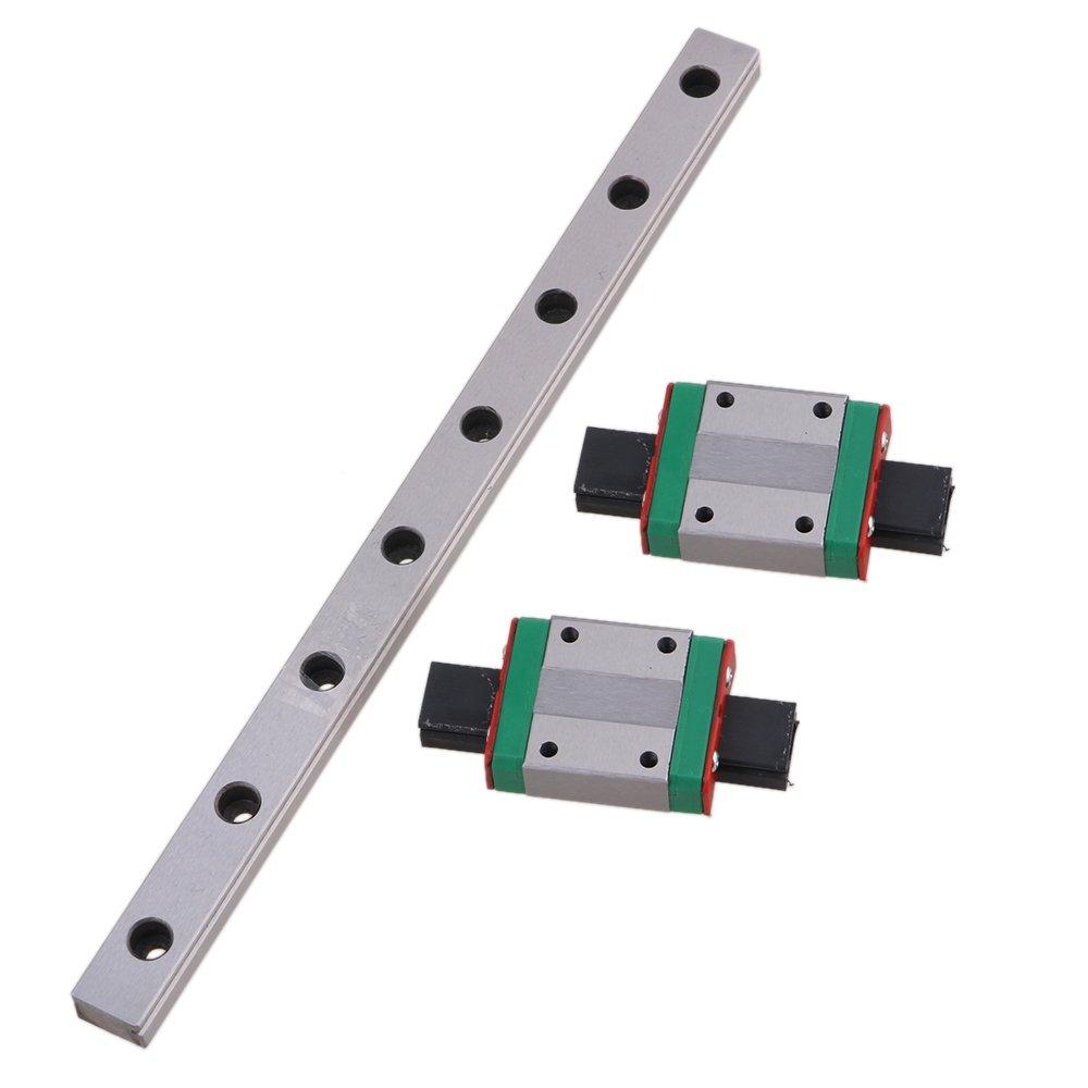 MGN12 200mm Linear Sliding Guideway Rail with Bearing Steel Mini Rail Block Precision Measurement Set