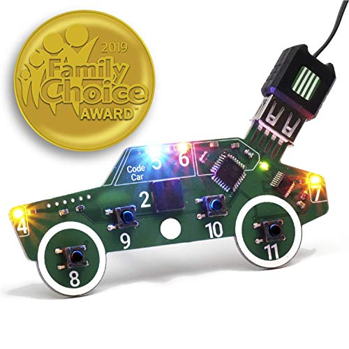 Code Car Circuit Toy for Kids Aged 8,9,10,11,12 to Learn Typed Coding Through Hands-On Electronics and 14 Online…