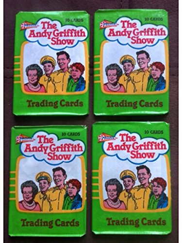 1990 Andy Griffith wax packs unopened lot of (4) packs first series non sport trading cards