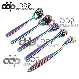 DDP Set of 5 Wartenberg Neurological Pin Wheel Pinwheel 1, 2, 3, 5, 7 Head Diagnostic Multi Color Rainbow