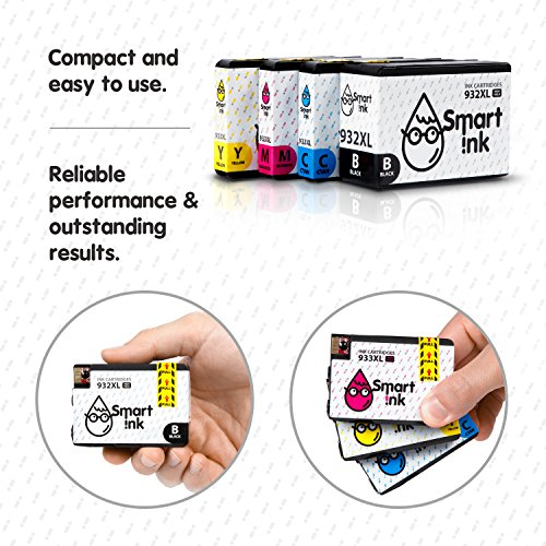 Smart Ink Compatible Ink Cartridge Replacement for HP 932 XL 933 XL 932XL 933XL High Yield 4 Pack (Black & C/M/Y) Ink Cartridges High Capacity for HP Officejet 6600 6100 6700 7110 7610 7612 Printers Photo #3