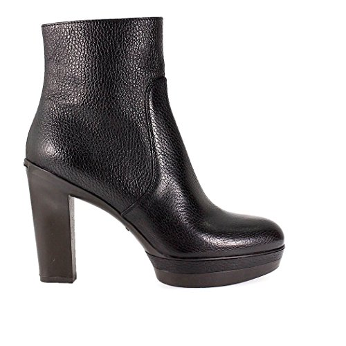 Leather 2017 Heeled Woman Santoni Black Bootie 2018 Fw Tw7xOqZ
