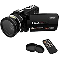 Andoer HDV-Z20 Full HD1080P 24MP 16× Zoom Digital Camera Wifi 3.0inch LCD Rotatable Touchscreen Camera with 37mm 0.45× Wide Lens & Remote Control Camcorder