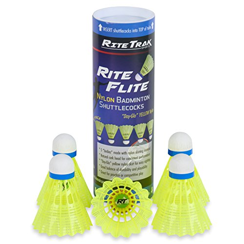 RiteFlite Nylon Badminton Shuttlecocks 5-Pack by RiteTrak Sports