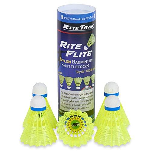 RiteFlite Nylon Badminton Shuttlecocks 5-Pack by RiteTrak Sports – DiZiSports Store
