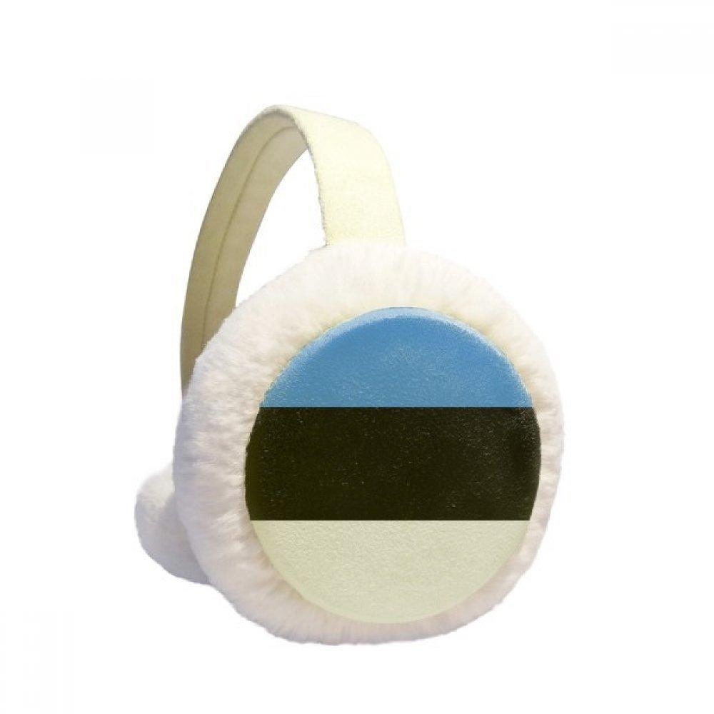 Estonia National Flag European Symbol Pattern Winter Earmuffs Ear Warmers Faux Fur Foldable Plush Outdoor Gift