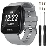 (US) QGHXO Band for Garmin Forerunner 35, Soft Silicone Replacement Watch Band Strap for Garmin Forerunner 35 Smart Watch, Fit 5.11