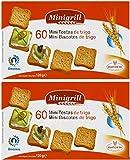 Minigrill Diatosta Wheat Flour Mini Toast Mini Biscottes 4.3 oz. (Pack of 2) 60 Per Box