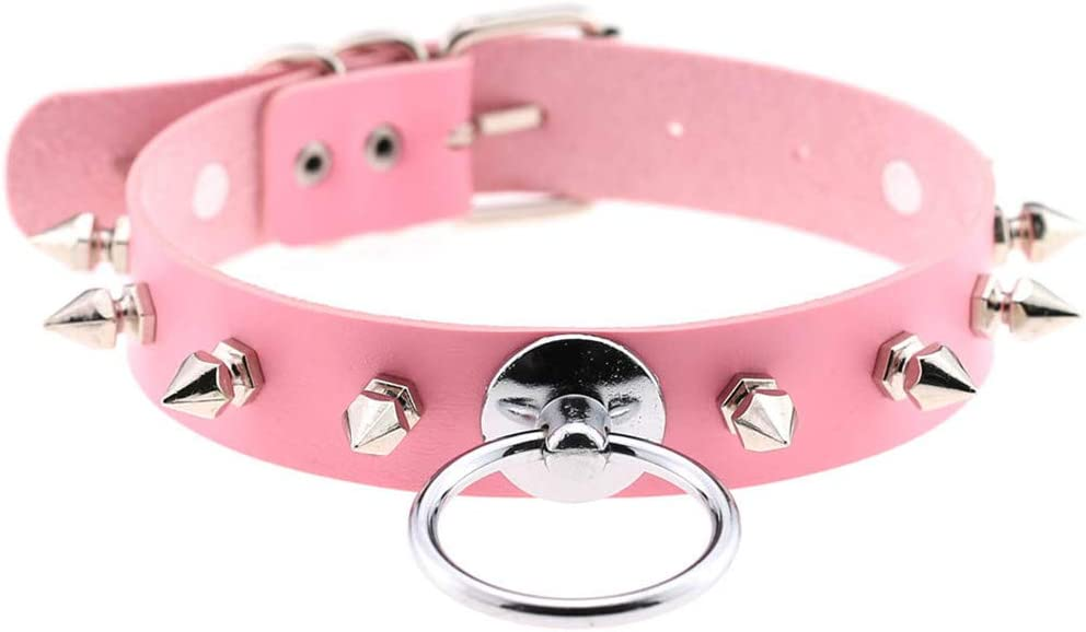 Pink Studded Choker
