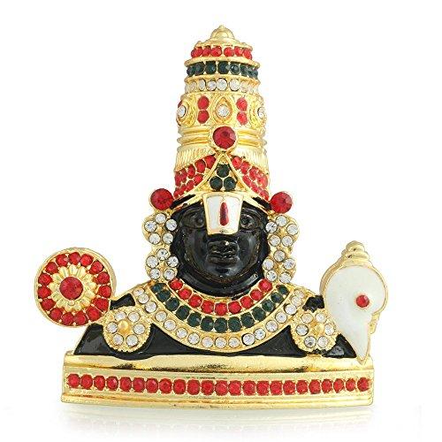 Tirupati Balaji Idols for car Dashboard (Multi-Coloured)