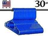Neaties USA Made Children's Small Blue Plastic Hangers, 30pk