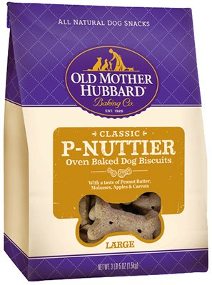 - Old Mother Hubbard American Distribution & Mfg 10110 Dog Treats, P-Nuttier Biscuits, Large, 3.5-Lbs. - Quantity 4