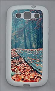 Samsung S3 Case Nature Fallen Leaves TPU Custom Samsung S3 Case Cover White