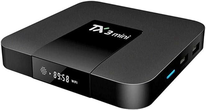 Cubierta decodificador TX3 Mini Smart TV Box Android 7.1 s905 W Core 1 G + 8 G WiFi 4 K: Amazon.es: Electrónica