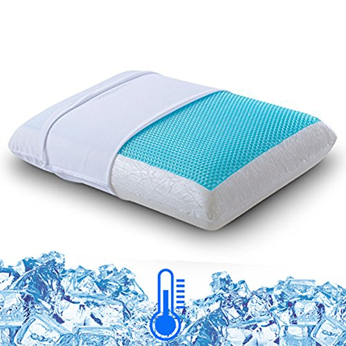 Comfort & Relax Reversible Memory Foam Gel Pillow for Sleeping Cool, Standard Size, 1-Pack (Foam Memory Touch Pillow)