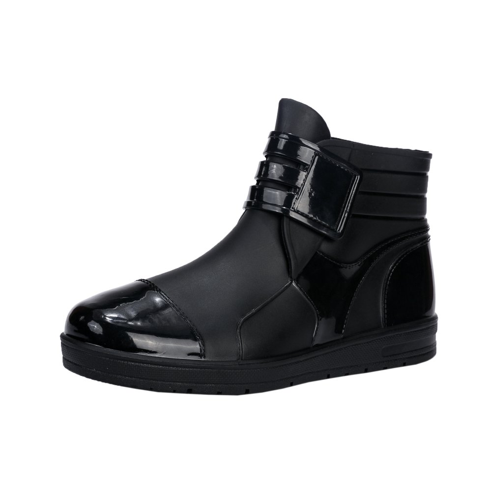 Men's Short Ankle Rain Boots Outdoor Waterproof Shoes Black Label Size 43-265mm - US 8.5