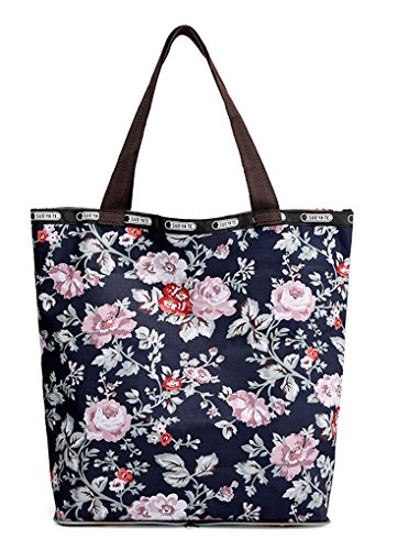 Shopping Water resistant Handbags Women Floral Bag Tote Nawoshow Satchel Rose Shoulder Bags AxY81wA4q