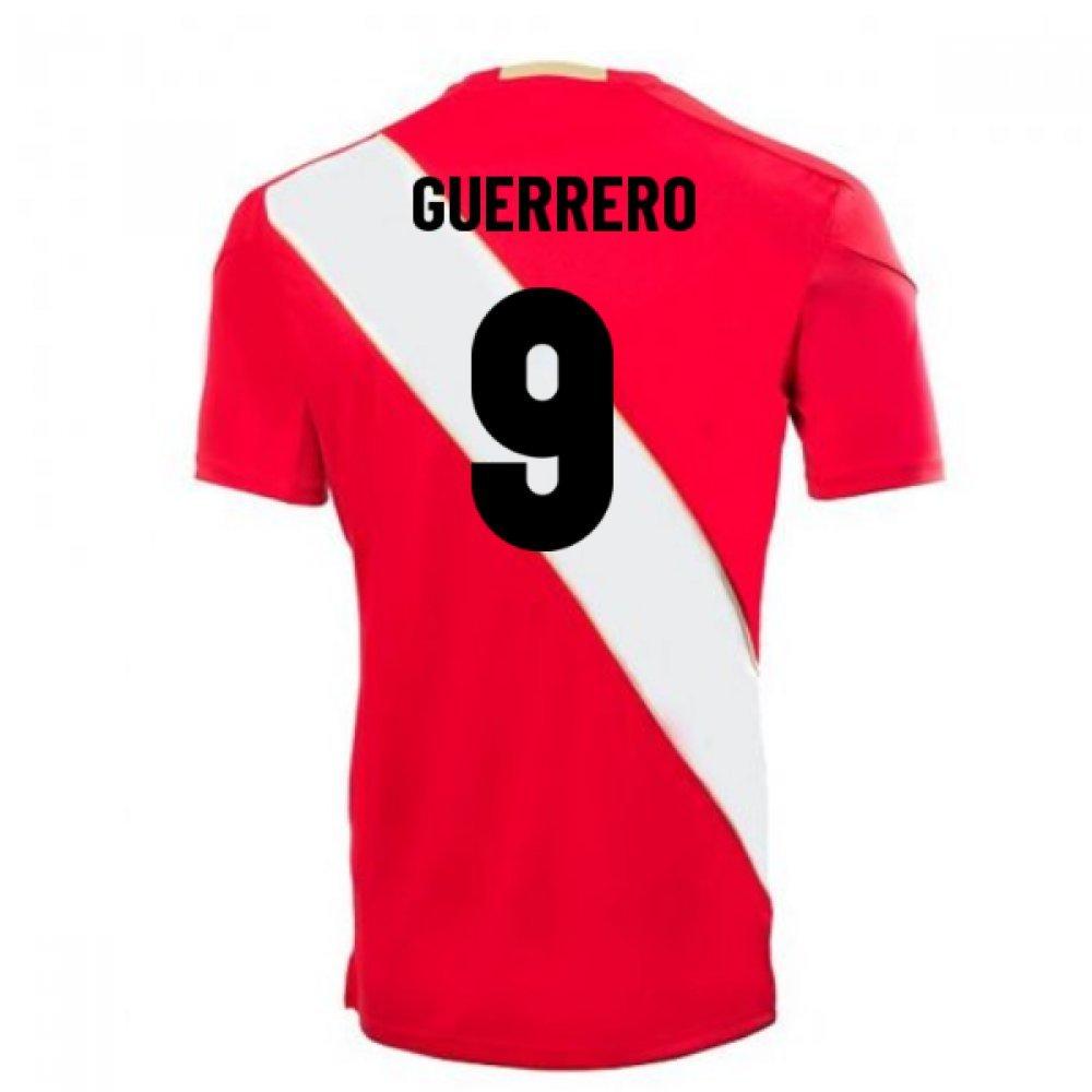 2018-2019 Peru Away Umbro Football Soccer T-Shirt Trikot (Paolo Guerrero 9)