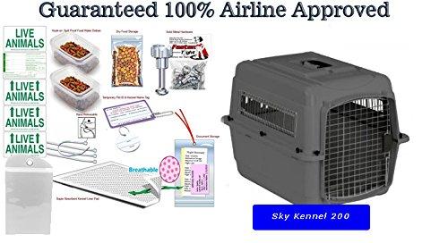 Kats'N Us Sky 200 28x21 Airline Pet CratePackage with Deluxe DryFur Pad by Kats'N Us