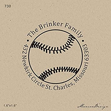 Buy Generic Selfinking Stamp Custom Family Address Baseball Return Circle Rubber Stamps 16x16 Inch Online At Low Prices In India