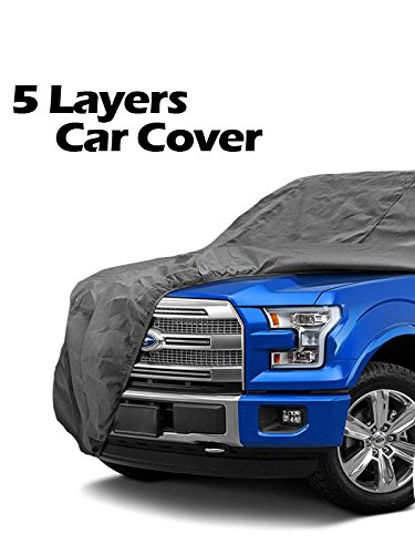5-Layer Car Cover fits Chevrolet Chevy S10 / Ford Ranger / GMC S15 Jimmy Sonoma / Isuzu Hombre / Jeep Comanche / NIssan Frontier MCC-018 Chevrolet S10 Car Cover