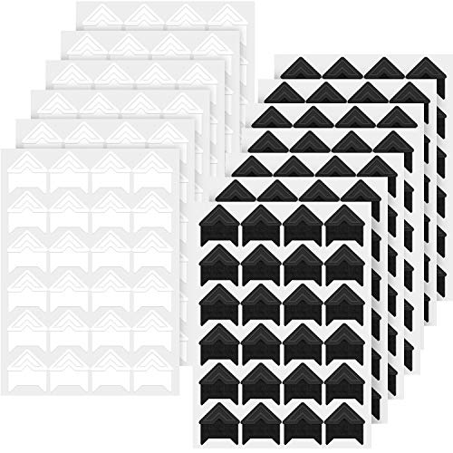 Hotop 312 Pieces Photo Corners Self Adhesive for DIY Scrapbook, Picture Album, Personal Journal, Dairy More (White and Black)