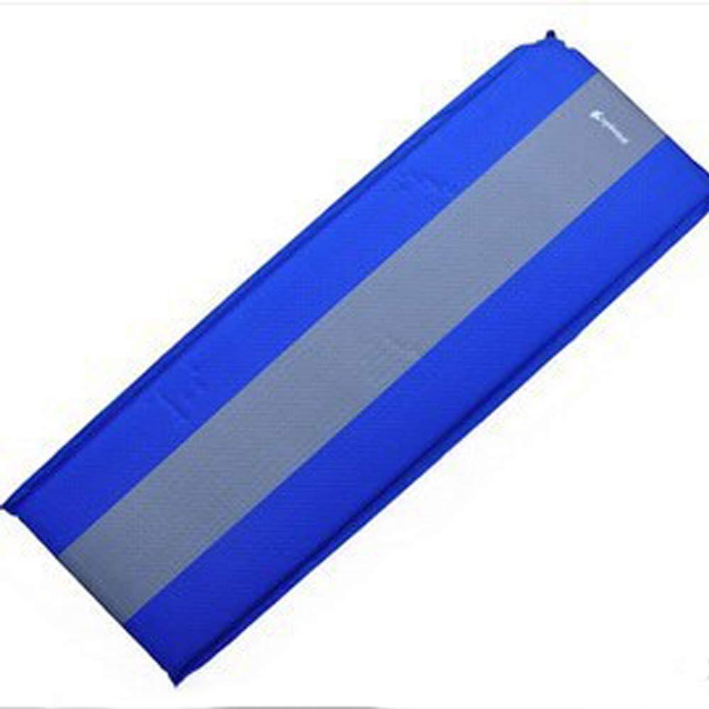 Automatisches aufblasbares Kissen des im Freien kampierende einzelne verbreiterte Strandmatte(Blau)