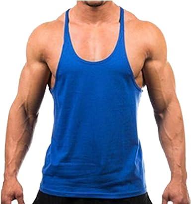Men Gym Muscle Bodybuilding Sleeveless Shirt Tank Top Singlet Fitness Sport Vest