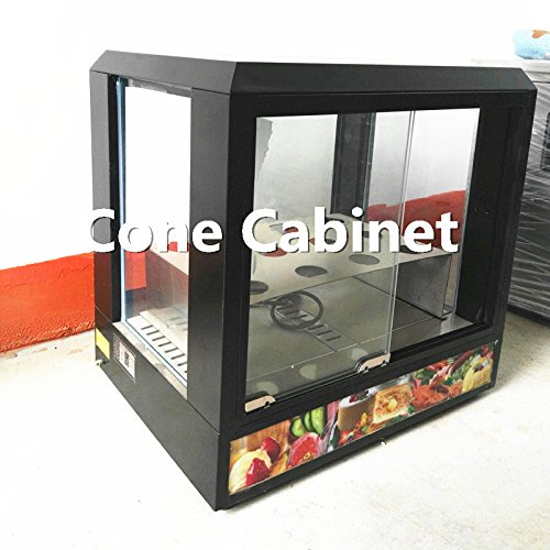 JIAWANSHUN Commercial Pizza Cone Cabinet Pizza Cone Holder Display Case Pizza Cone Warmer Cone Warming Machine