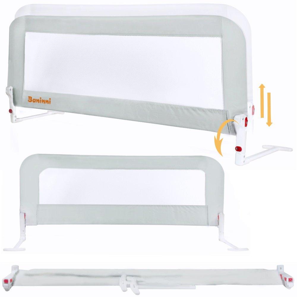 Bettschutzgitter Bettrailing von Baninni 150cm Kinderbett Rausfallschutz klappbar und in Höhe verstellbar