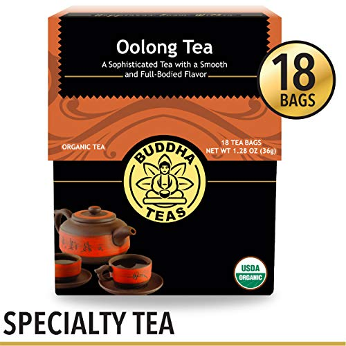 Organic Oolong Tea, 18 Bleach-Free Tea Bags - Rich in Vitamins and Minerals and a Natural Source of Antioxidants, No GMOs