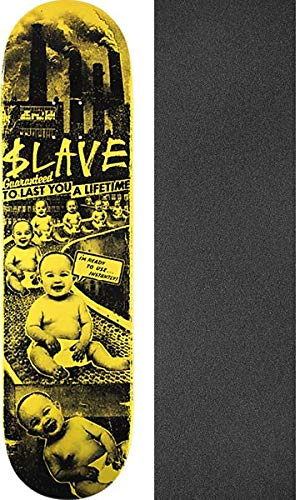 Slave Skateboards Toxic Babies スケートボードデッキ - - 8.25インチ Slave x 32.125インチ Toxic Jessupブラックグリップテープ付き - 2点セット B07G5XCDJ8, 坂下町:98dbf8a5 --- krianta.ru