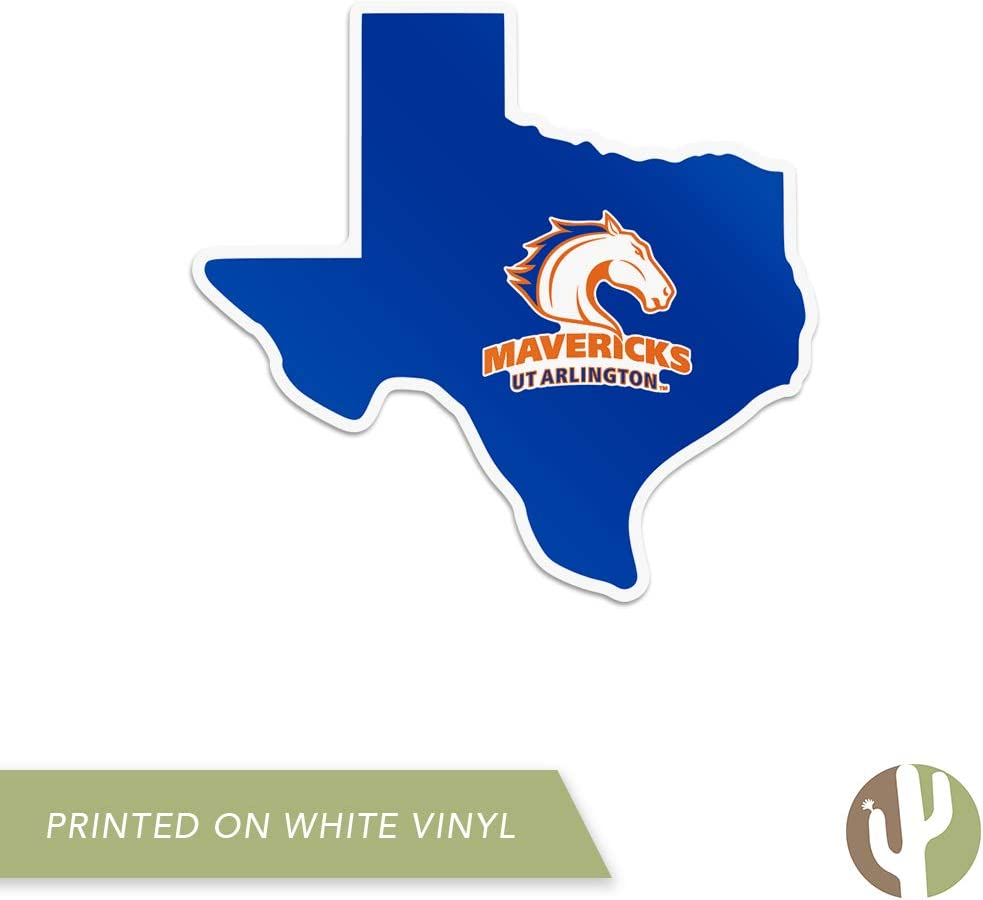 The University of Texas at Arlington UTA Mavericks NCAA Vinyl Decal Laptop Water Bottle Car Scrapbook State Boarder Sticker