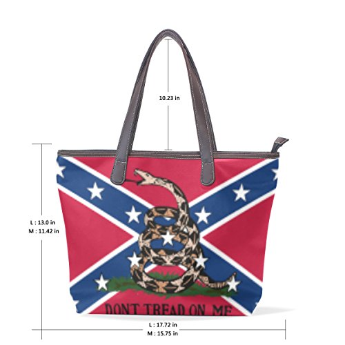Price comparison product image Dont Tread Me Gadsden Flag Women's Fashion Large Tote Shoulder Bag Ladies Handbag