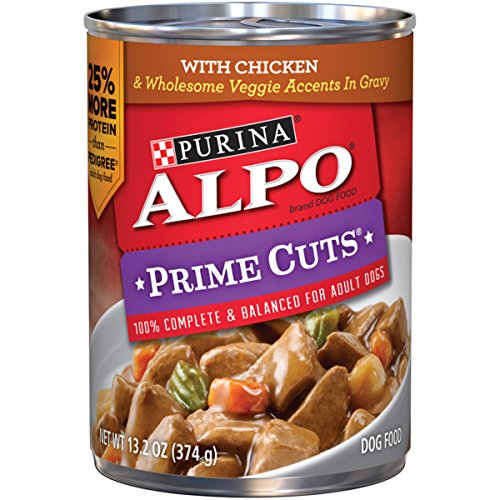 Alpo Pet Foods (Purina ALPO Prime Cuts with Chicken & Wholesome Veggie Accents in Gravy Adult Wet Dog Food - (12) 13.2 oz. Cans)